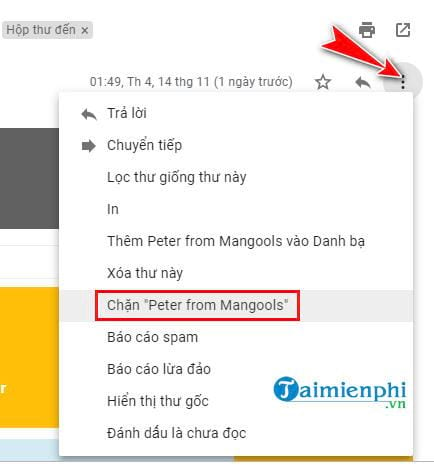 High optical link on Gmail 7