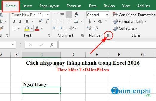 Cách nhập ngày tháng nhanh trong Excel 5