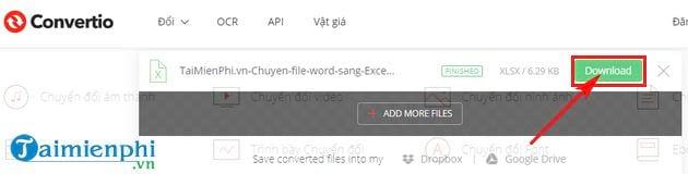 Cách chuyển file Word sang Excel 15
