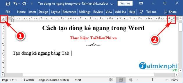Cách tạo dòng kẻ ngang trong Word 6