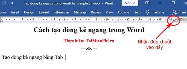 Cách tạo dòng kẻ ngang trong Word 7