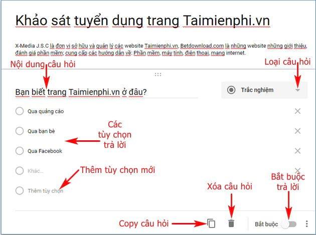 Hướng dẫn tạo Google Form chuyên nghiệp 11