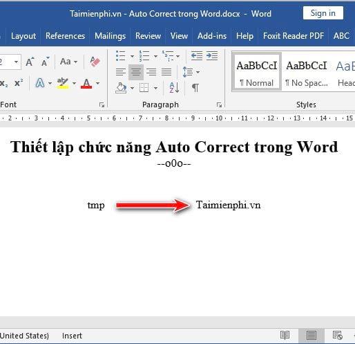 Hướng dẫn thiết lập chức năng Auto Correct trong Word 5