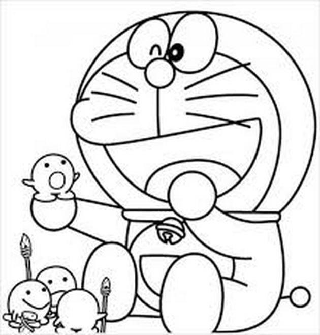 Tranh tô màu doremon cho bé tập tô 10