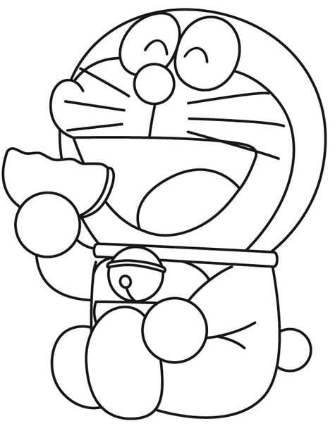 Tranh tô màu doremon cho bé tập tô 5
