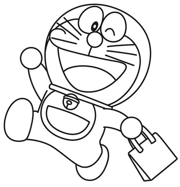 Tranh tô màu doremon cho bé tập tô 6