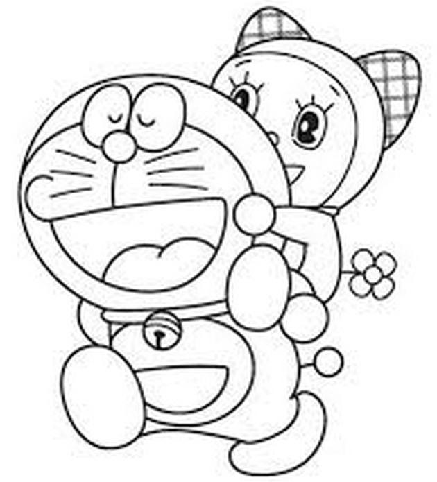 Tranh tô màu doremon cho bé tập tô 8