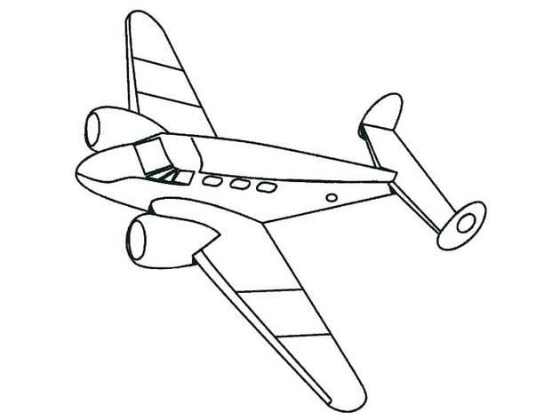 Tổng hợp Tranh tô màu máy bay cho bé 11