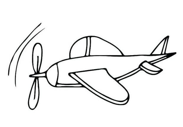 Tổng hợp Tranh tô màu máy bay cho bé 12