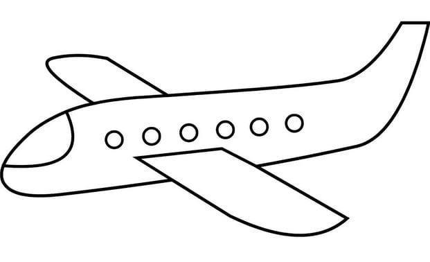 Tổng hợp Tranh tô màu máy bay cho bé 13