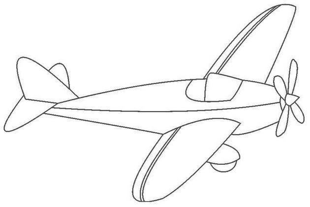 Tổng hợp Tranh tô màu máy bay cho bé 14