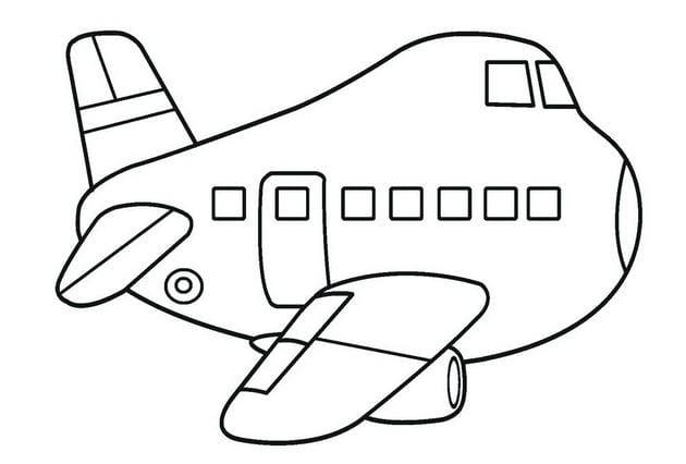 Tổng hợp Tranh tô màu máy bay cho bé 15