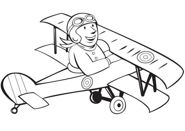 Tổng hợp Tranh tô màu máy bay cho bé 16