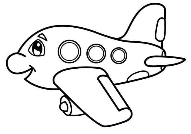Tổng hợp Tranh tô màu máy bay cho bé 17