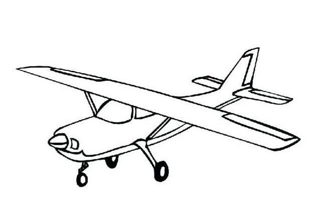 Tổng hợp Tranh tô màu máy bay cho bé 19