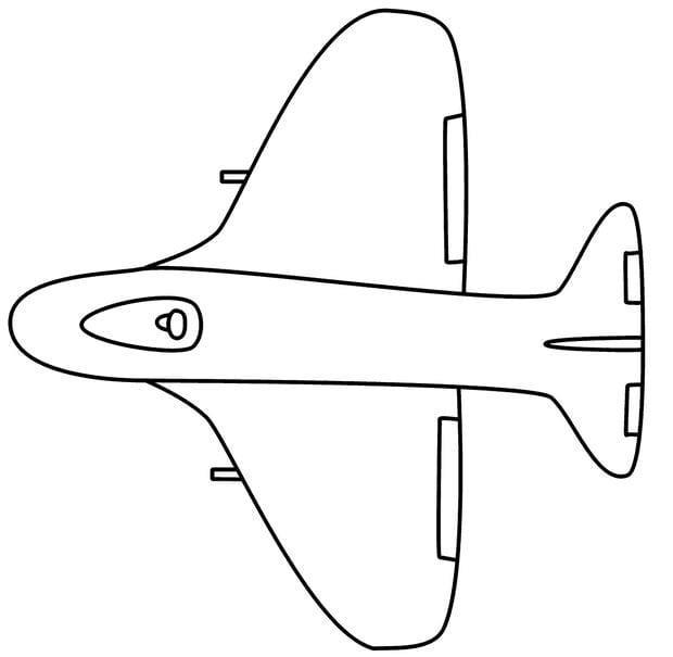 Tổng hợp Tranh tô màu máy bay cho bé 2