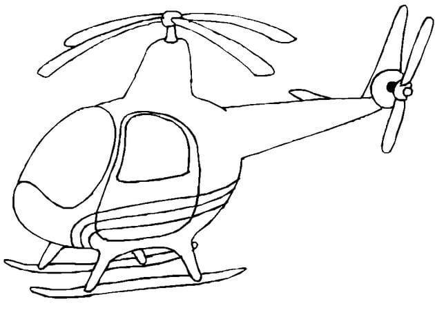 Tổng hợp Tranh tô màu máy bay cho bé 20