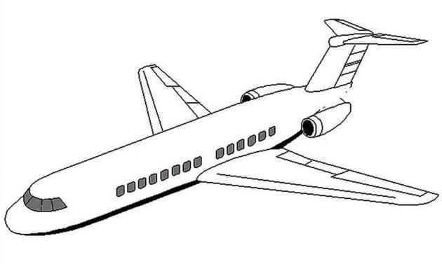 Tổng hợp Tranh tô màu máy bay cho bé 3