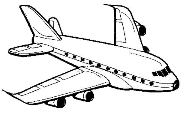 Tổng hợp Tranh tô màu máy bay cho bé 4
