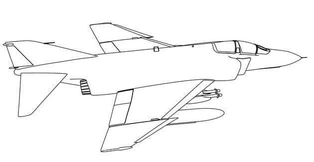 Tổng hợp Tranh tô màu máy bay cho bé 6