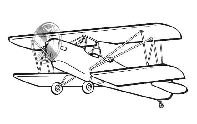 Tổng hợp Tranh tô màu máy bay cho bé 7