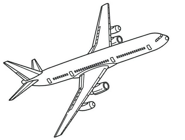 Tổng hợp Tranh tô màu máy bay cho bé 8
