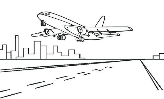 Tổng hợp Tranh tô màu máy bay cho bé 9