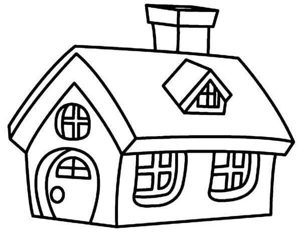 Tranh tô màu ngôi nhà đẹp nhất 11