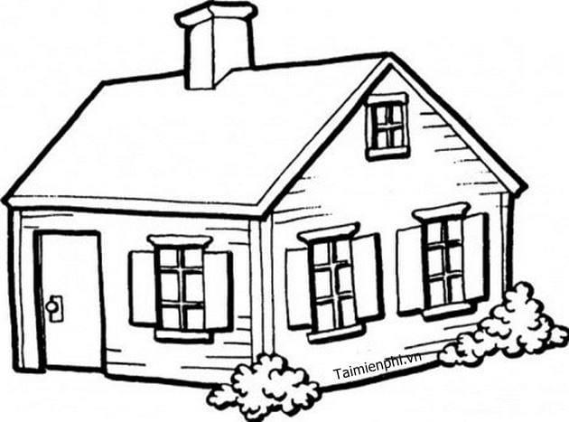 Tranh tô màu ngôi nhà đẹp nhất 13