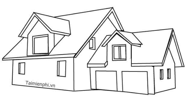 Tranh tô màu ngôi nhà đẹp nhất 15