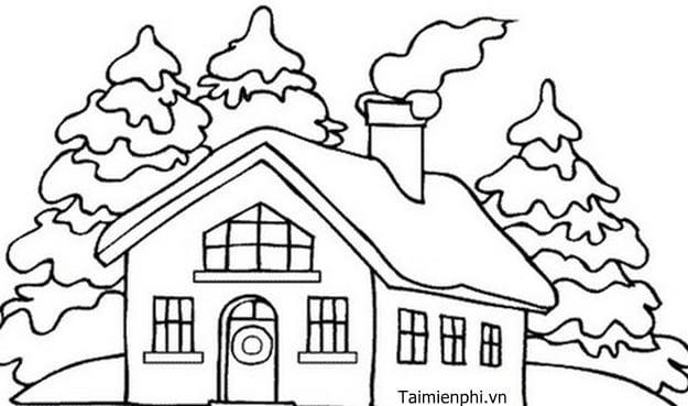 Tranh tô màu ngôi nhà đẹp nhất 4