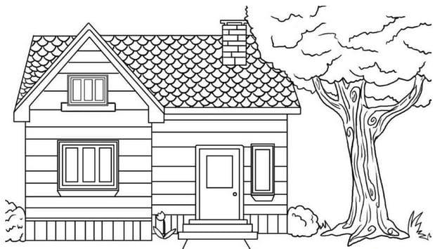Tranh tô màu ngôi nhà đẹp nhất 5