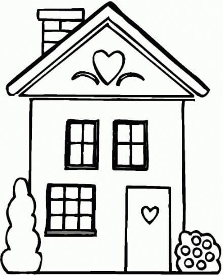 Tranh tô màu ngôi nhà đẹp nhất 9