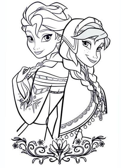 Tranh tô màu công chúa cho bé gái tập tô 11