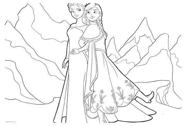 Tranh tô màu công chúa cho bé gái tập tô 12