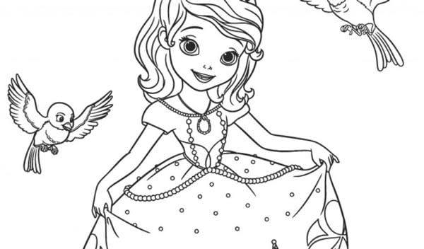 Tranh tô màu công chúa cho bé gái tập tô 2