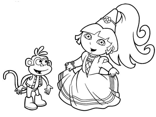 Tranh tô màu công chúa cho bé gái tập tô 24