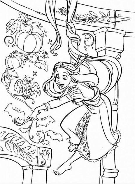 Tranh tô màu công chúa cho bé gái tập tô 25