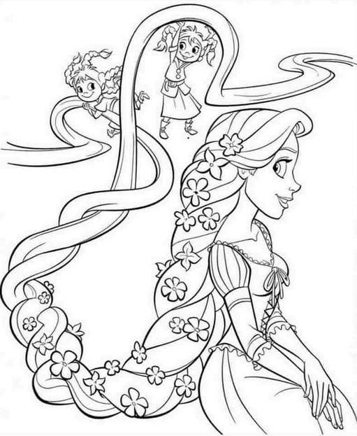 Tranh tô màu công chúa cho bé gái tập tô 26