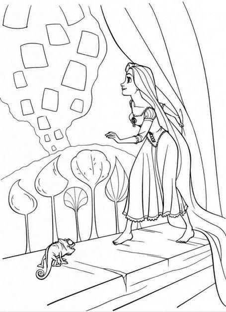 Tranh tô màu công chúa cho bé gái tập tô 27