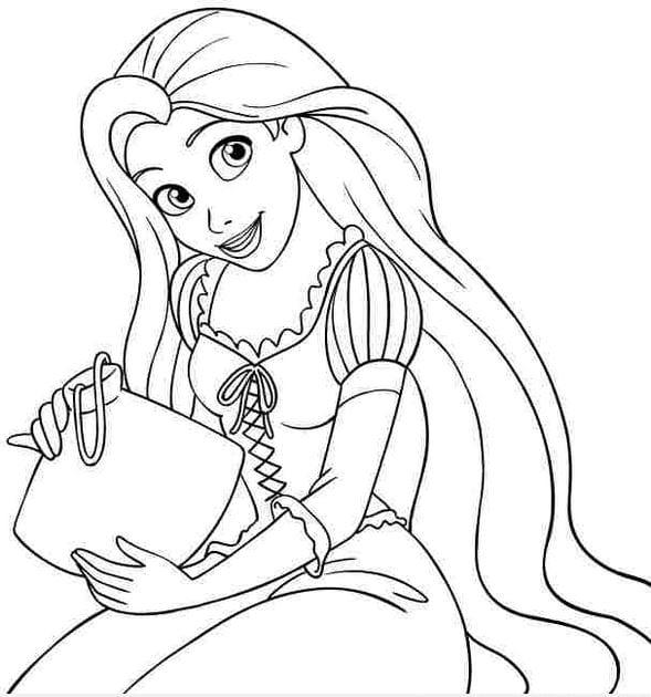 Tranh tô màu công chúa cho bé gái tập tô 28
