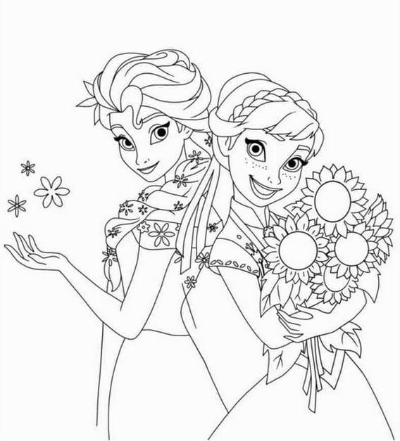 Tranh tô màu công chúa cho bé gái tập tô 5