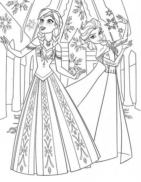 Tranh tô màu công chúa cho bé gái tập tô 9