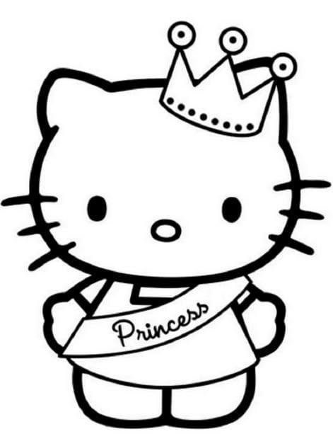 Tranh tô màu Hello Kitty 10