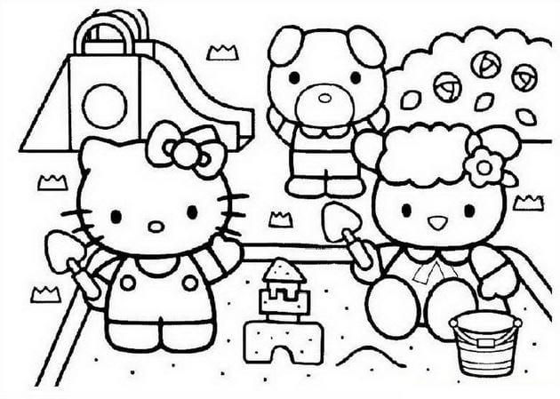 Tranh tô màu Hello Kitty 11