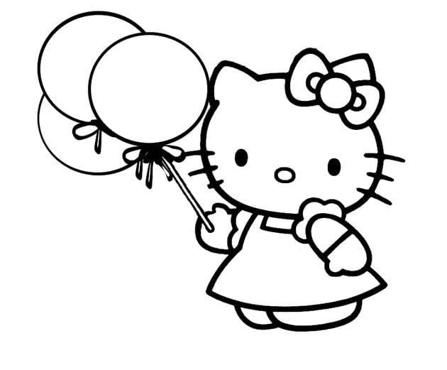 Tranh tô màu Hello Kitty 12