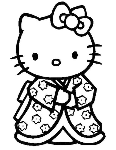 Tranh tô màu Hello Kitty 13