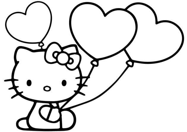 Tranh tô màu Hello Kitty 14