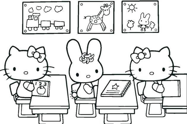 Tranh tô màu Hello Kitty 16