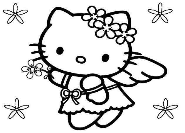Tranh tô màu Hello Kitty 17